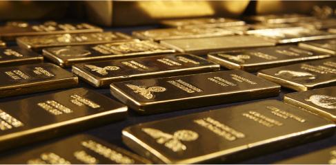 Lingotes de oro puro