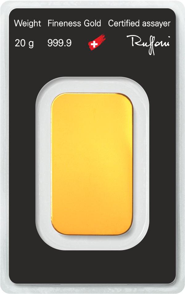 Lingote de oro 20gr