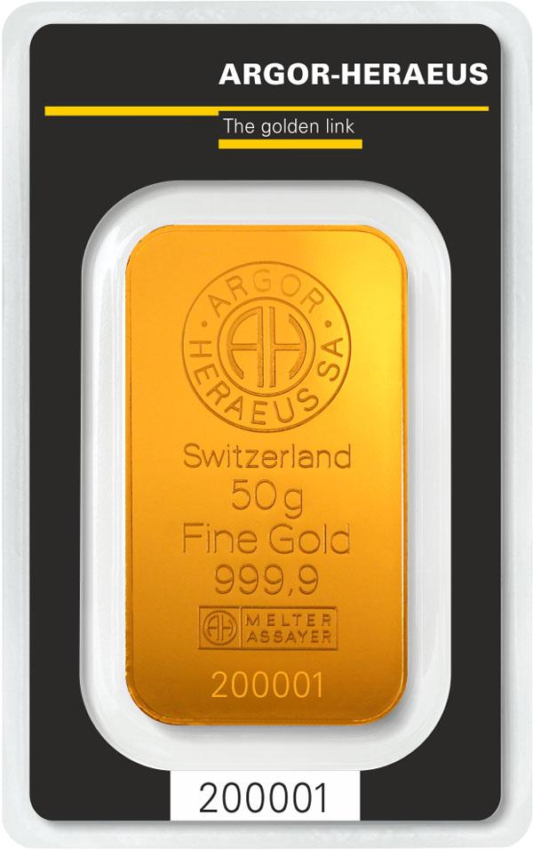 Lingote de oro 50gr
