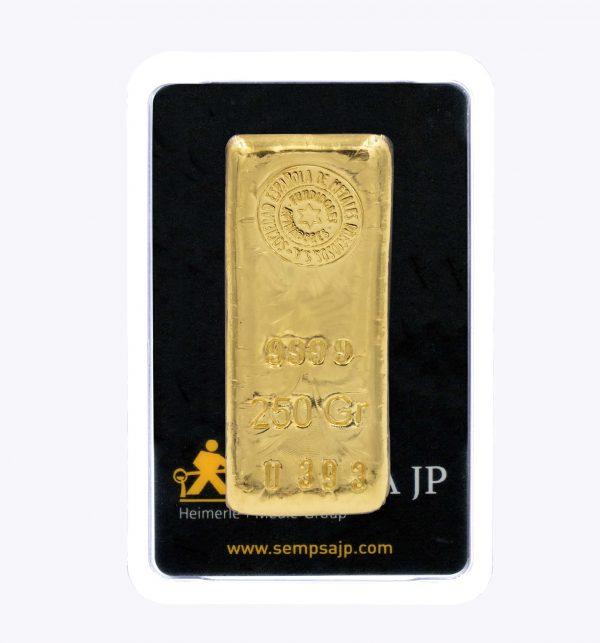 Lingote de oro 250gr